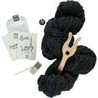 Black Lucette DIY Knitting Kit