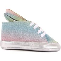 Bunny Rainbow Leather Lace-Up Trainers