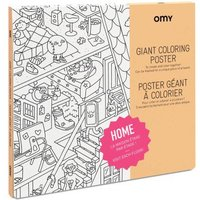 Home Giant Colouring Poster