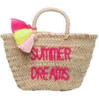 Summer Dreams Embroidered Pompom Basket