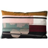 Colour Block n°3 Organic Cotton Cushion With Removable Cover