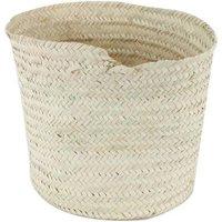 Round Woven Palm Leaf Basket