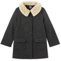 Faux Sheepskin Collar Coat