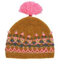 Arthur Embroidered Pompom Hat