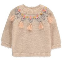 Edgard Buttoned Back Pompom Embroidered Jumper