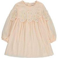 Lace Medallion Crepe Couture Dress
