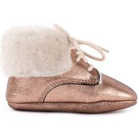 Fur Lined Lace-Up Slippers