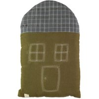 Ikat Checked House Cushion 29x47cm