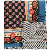 Sarong Russion Flower Reversible Quilted Plaid