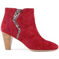 Lips Suede Heel Boots