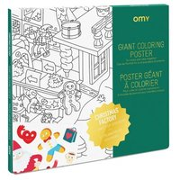 Father Christmas's Workshop Giant Colouring Poster