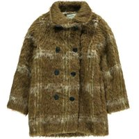Captain Checked Wool, Alpaca Wool and Mohair Coat