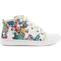 Floral Lace-Up Zipped Trainers