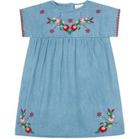 Melinda Embroidered Chambray Dress