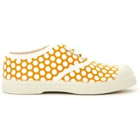 White Dot Lace Up Tennis Shoes
