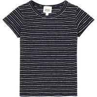 Treasure Lurex Striped Linen T-Shirt