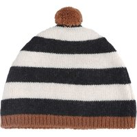 Wool and Cashmere Striped Beanie