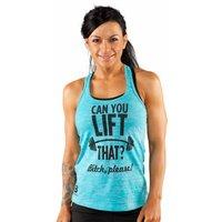 Bodybuilding.com Clothing Women's Can You Lift That Tank Large Tahiti Blue