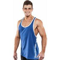 Bodybuilding.com Clothing Vertical Contrast Stringer Tank Small Royal Blue