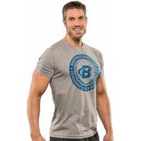 Bodybuilding.com Clothing B Swoosh Academia Tee XL Dark Heather Grey