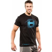Bodybuilding.com Clothing B Faded Tee XL Black-Turquoise
