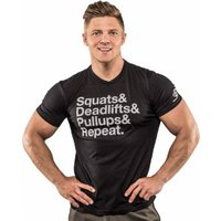 Bodybuilding.com Clothing Squats Etc. Tee 2XL Black