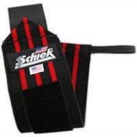 Schiek Wrist Wraps 12 Inches Black-Red Stripe