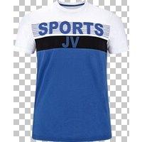 T-Shirt BERDINES Jan Vanderstorm blau weiß
