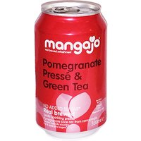 Mangajo - Pomegranate Presse & Green Tea  24x 330ml Cans - Lime Green Gifts