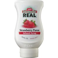 Real - Strawberry Puree Infused Syrup 500ml Squeezy Bottle - Strawberry Gifts