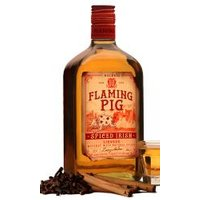 Flaming Pig - Spiced Irish 70cl Bottle - Pig Gifts
