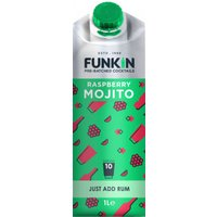 Funkin Cocktail Mixer - Raspberry Mojito 1 Litre Carton - Mojito Gifts