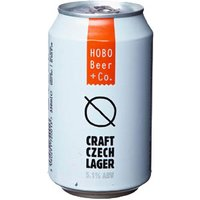 Hobo - Craft Czech Lager 24x 330ml Cans - Lager Gifts