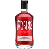 Two Birds - Strawberry and Vanilla Gin 70cl Bottle - Strawberry Gifts
