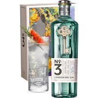 No3 - London Dry Gin Highball Gift Pack 70cl Bottle