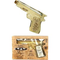 Hijos de Villa - Tequila Reposado Pistol With Glasses 200ml Bottle - Glasses Gifts