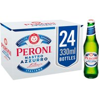 Peroni - Nastro Azzuro Lager 24x 330ml Bottles - Lager Gifts