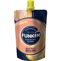 Funkin Single Serve Mixer - White Peach Bellini 120g Pouch - Drinks Gifts