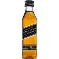 Johnnie Walker - Black Label 12 Year Old Miniature 5cl Miniature - Black Gifts