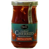 Opies - Cocktail Cherries With Stems 500g Jar - Drinking Gifts