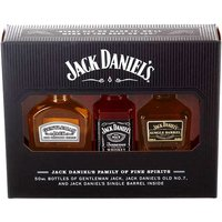 Jack Daniels - Family 3x 5cl Miniatures - Getting Drunk Gifts