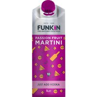 Funkin Cocktail Mixer - Passion Fruit Martini 1 Litre Carton - Alcohol Gifts