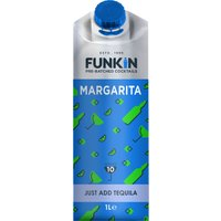 Funkin Cocktail Mixer - Margarita 1 Litre Carton - Alcohol Gifts
