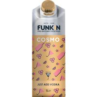 Funkin Cocktail Mixer - Cosmopolitan 1 Litre Carton - Drinking Gifts