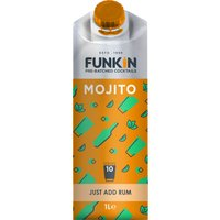 Funkin Cocktail Mixer - Mojito 1 Litre Carton - Drinking Gifts