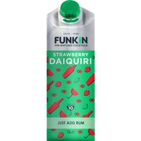 Funkin Cocktail Mixer - Strawberry Daiquiri 1 Litre Carton - Drinking Gifts