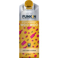 Funkin Cocktail Mixer - Strawberry Woo Woo 1 Litre Carton - Drinking Gifts