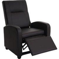 Fernsehsessel Dallas Basic, Relaxsessel Relaxliege Sessel, Kunstleder ~ coffee