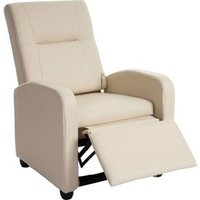 Fernsehsessel Dallas Basic, Relaxsessel Relaxliege Sessel, Kunstleder ~ creme