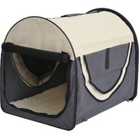 Pawhut Hundetransportbox In Größe M M: 61 X 46 X 51 Cm (lxbxh)  Hundebox Transportbox Faltbar Hundetransportbox